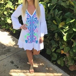 Lilly Pulitzer Tavvy Embroidered Coverup Dress